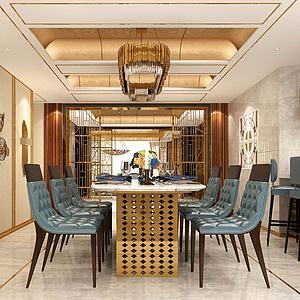 3d新古典客餐厅模型