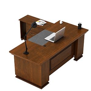 3d總經理<font class='myIsRed'>辦公桌</font>模型