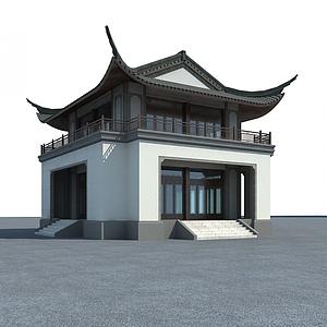 3d中式古建筑模型