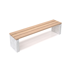 戶外長凳子模型