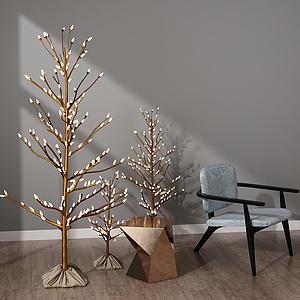 現代樹燈模型