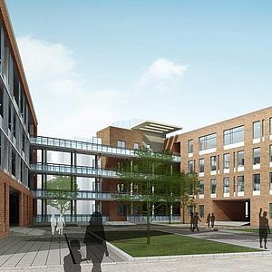 3d教學樓模型