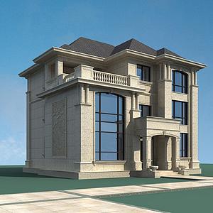 3d<font class='myIsRed'>歐式別墅</font>建筑模型