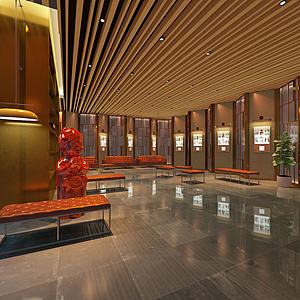 現代風格展廳模型