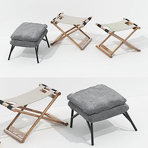 現代凳子模型