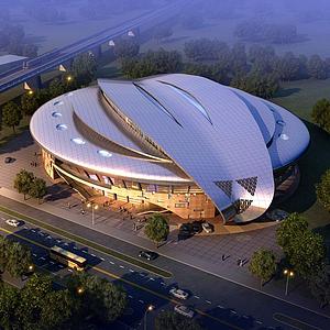 體育館模型