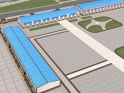 3d工廠場景模型