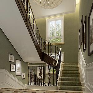 3d樓梯走廊模型