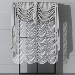 美式窗簾模型
