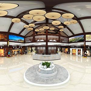 服務區大廳模型