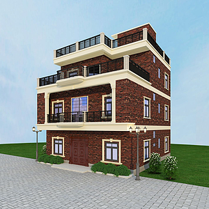 3d农家别墅模型