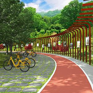 3d公园跑道模型