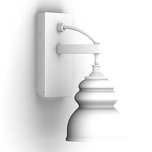 現代鐵藝壁燈簡約復古模型