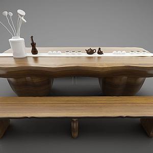 3d茶臺模型