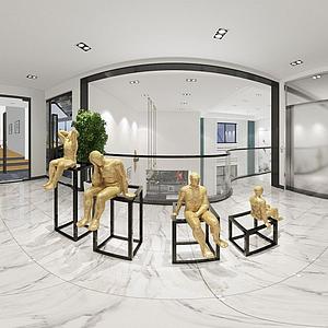 辦公樓前廳模型