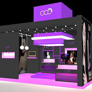 3d化妆品展台模型