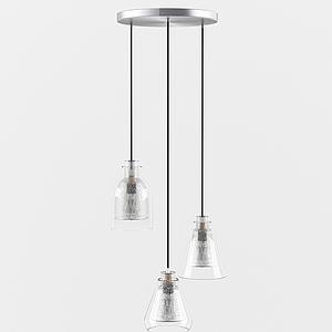 現代三頭吊燈模型