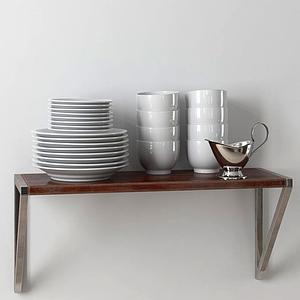 菜碟碗組合模型