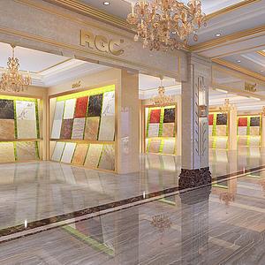 瓷磚展廳模型