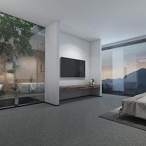 民宿卧室模型