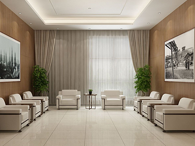 酒店接待室談話間模型3d模型