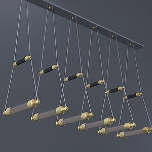 現代小橋式吊燈模型