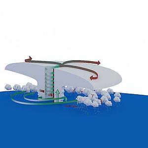 3d云层效果展示模型
