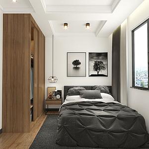 3d出租房双人间模型