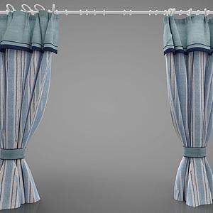 3d窗簾模型