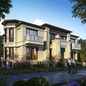歐式別墅豪宅模型