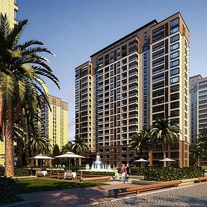 歐式住宅公寓模型