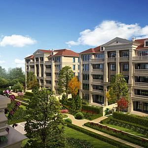 法式別墅公寓模型