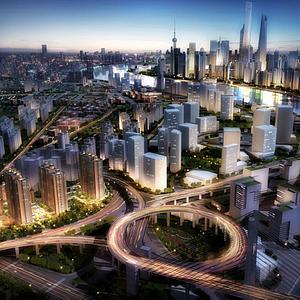 上海规划鸟瞰