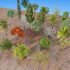 現代室外樹木綠植模型