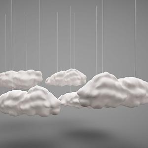 3d網紅云燈云朵燈模型