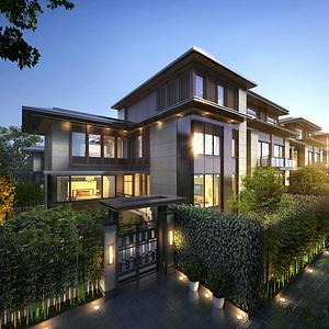 現代別墅豪宅模型