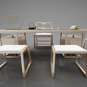 3d<font class='myIsRed'>新中式茶桌</font>書桌模型