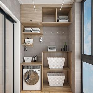 3d现代洗衣房模型