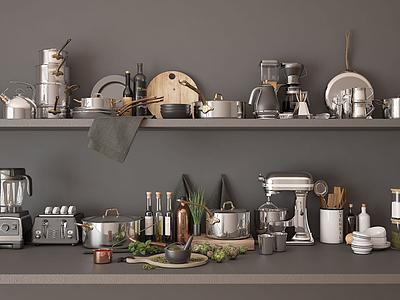 廚房用品模型3d模型