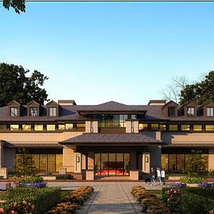3d古建會所酒店模型