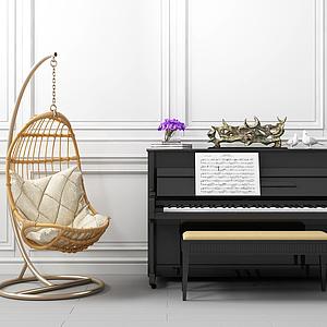 休閑鋼琴模型