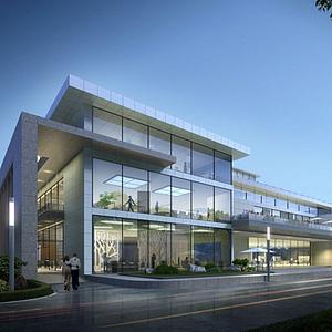現代獨立辦公樓模型