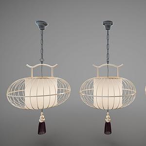 3d新<font class='myIsRed'>中式吊燈</font>燈籠燈模型