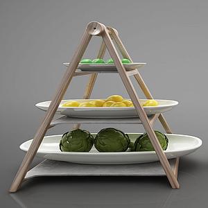 現代風格食物擺件模型