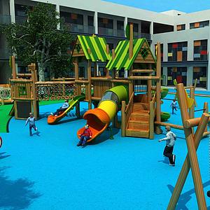 現代幼兒園模型