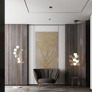 3d现代门厅模型