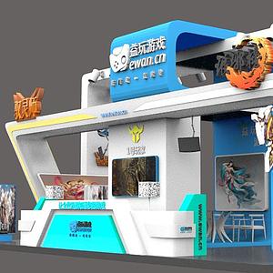 3d游戏展台模型