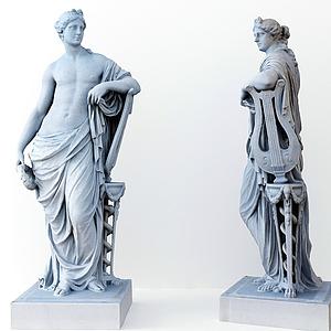 3d雕塑模型