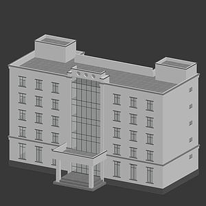 3d警局模型