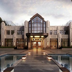 新中式会所酒店售楼处